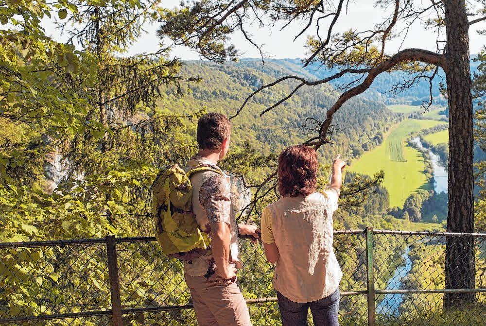 Vom Knopfmacherfelsen genießen die Wanderer einen tollen Ausblick ins Donautal. FOTO: ARCHIV