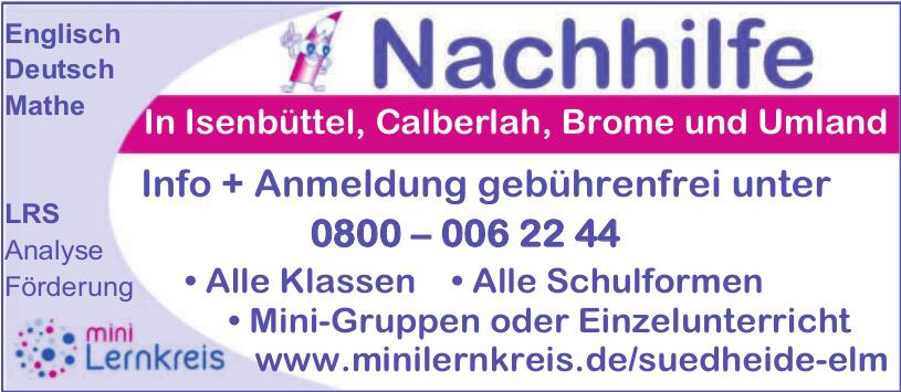 Nachhilfe Isenbüttel, Calberlah, Brome und Umland