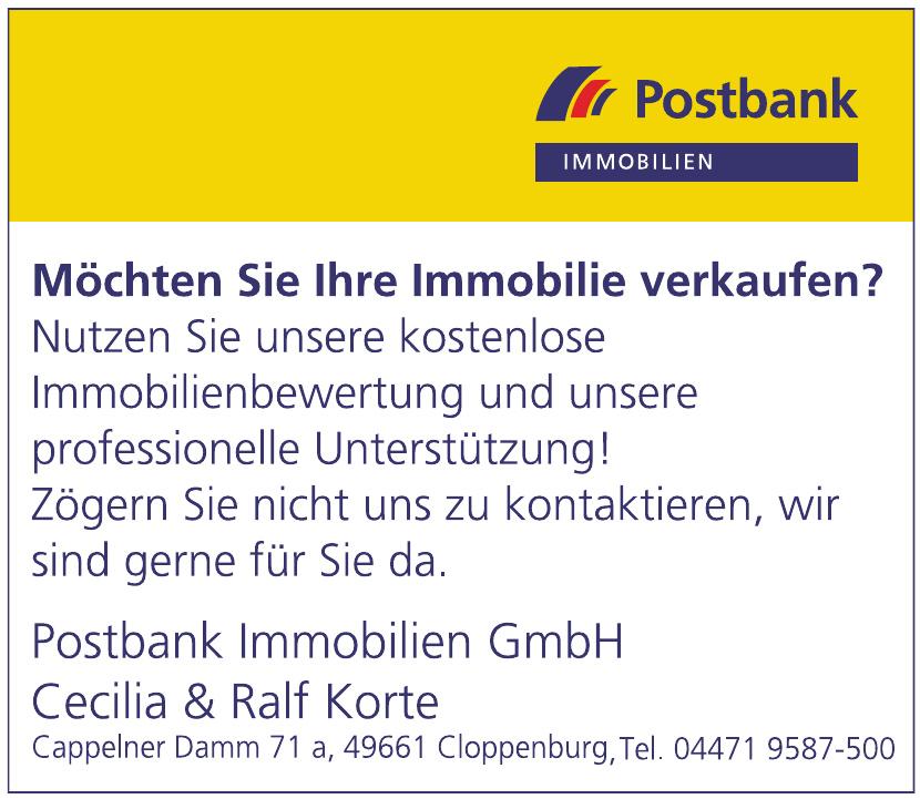 Postbank Immobilien GmbH Cecilia & Ralf Korte
