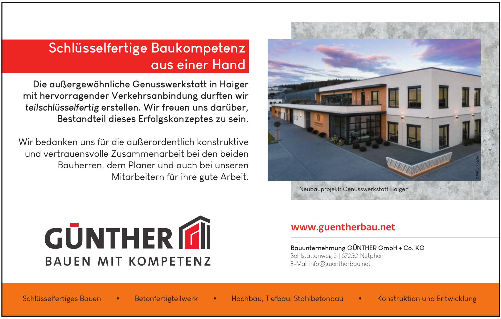 Bauunternehmung GÜNTHER GmbH + Co. KG