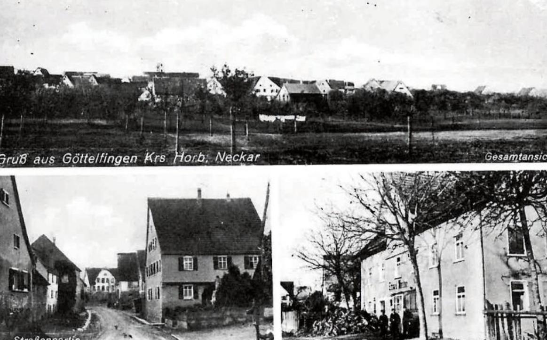 """Diese Ansichtskarte von Göttelfingen stammt aus der ersten Hälfte des 20. Jahrhunderts. Bilder: Gemeindeverwaltung Eutingen (aus dem Band """"Bilder aus alter Zeit – Eutingen im Gäu"""")"""