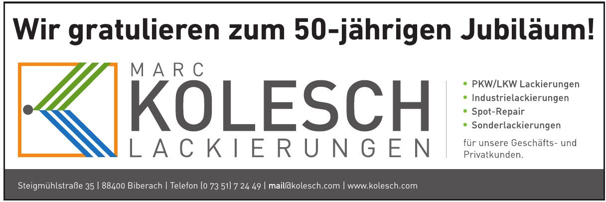 Marc Kolesch Lackierungen