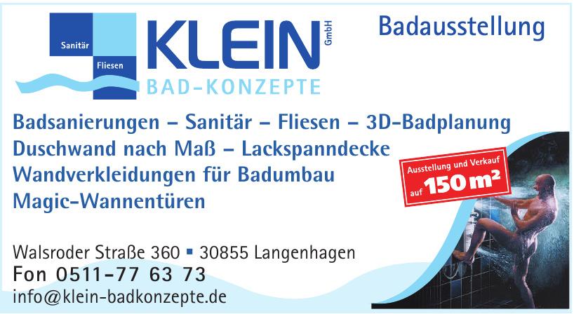Klein GmbH Bad-Konzepte