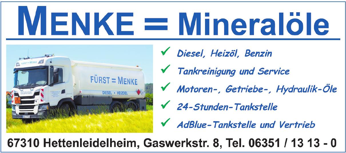 Menke = Mineralöle
