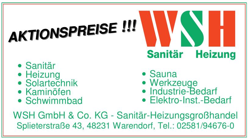 WSH GmbH & Co. KG - Sanitär-Heizungsgroßhandel