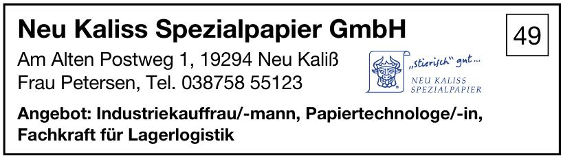 Neu Kaliss Spezialpapier GmbH