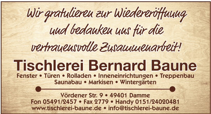 Tischlerei Bernard Baune