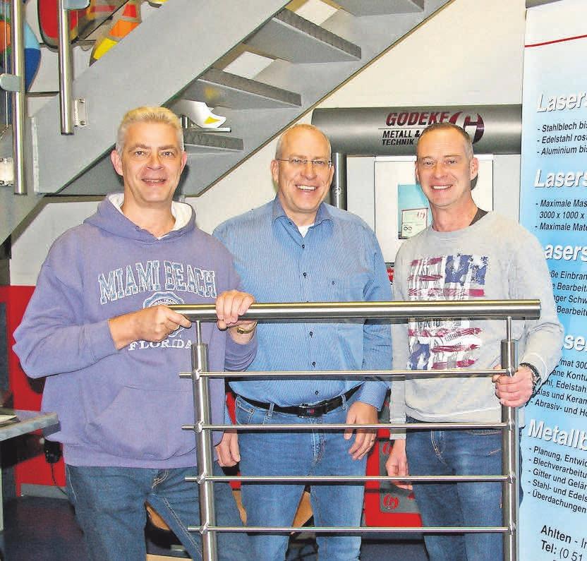 Peter (von links), Frank und Philipp Gödeke stehen für Qualität im Handwerk.