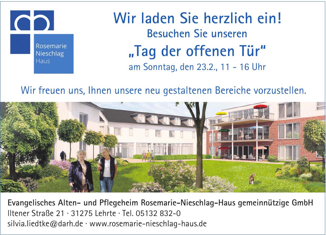 Evangelisches Alten- und Pflegeheim Rosemarie-Nieschlag-Haus gemeinnützige GmbH