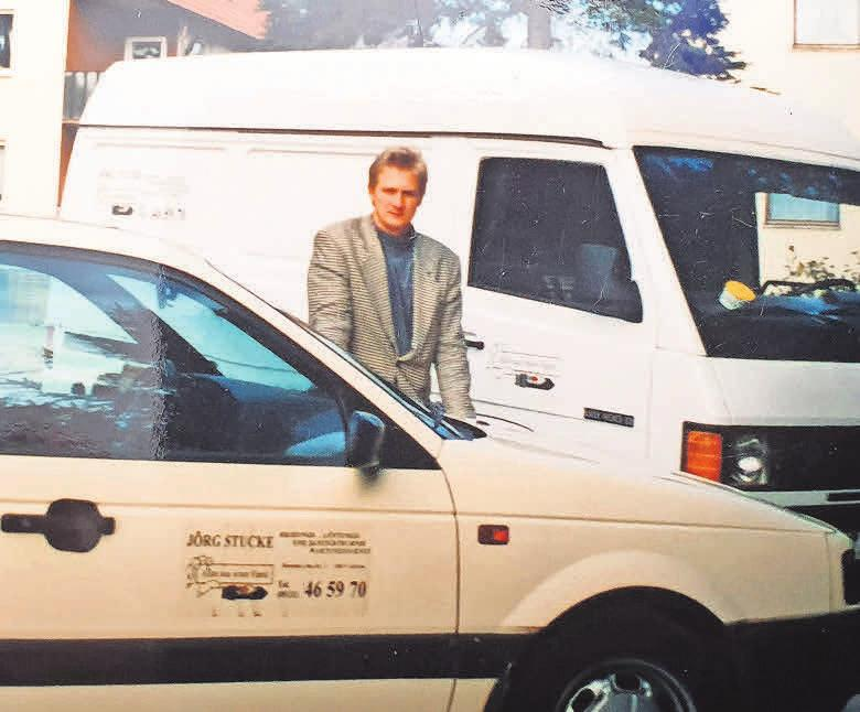 Gestern und heute: Der damalige Pkw von Jörg Stucke im Jahr 1995