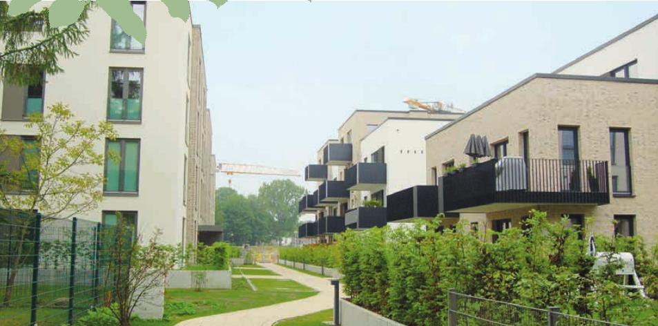 Viel Grün und ruhige Innenhöfe im Süderfeld Park Foto: bk
