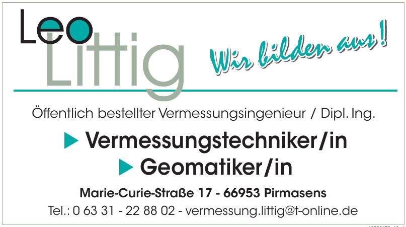 Öffentlich bestellter Vermessungsingenieur / Dipl. Ing. Leo Littig