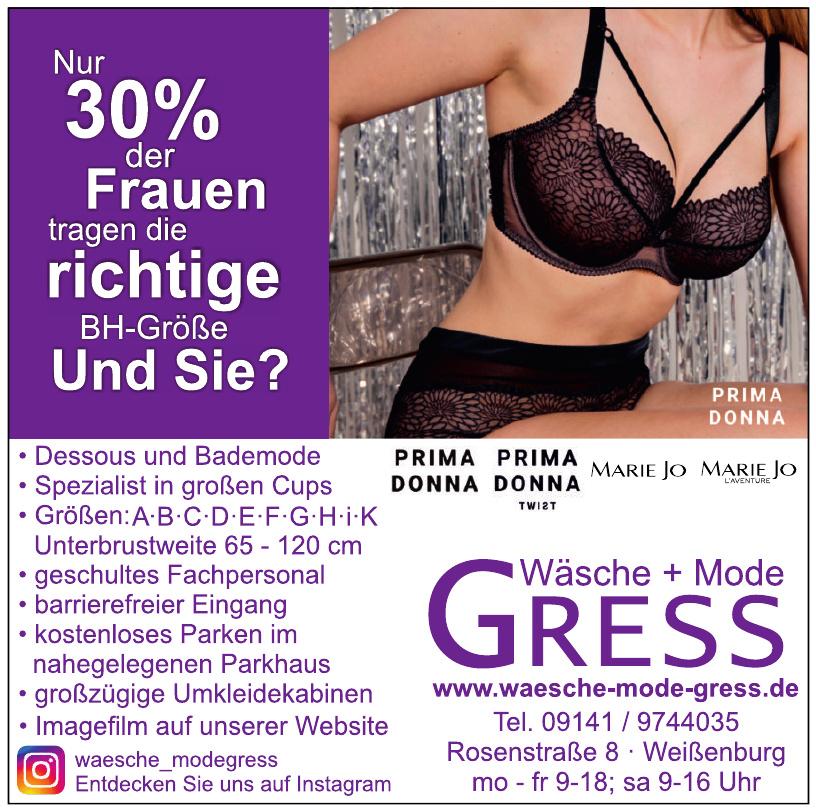 Gress Wäsche + Mode
