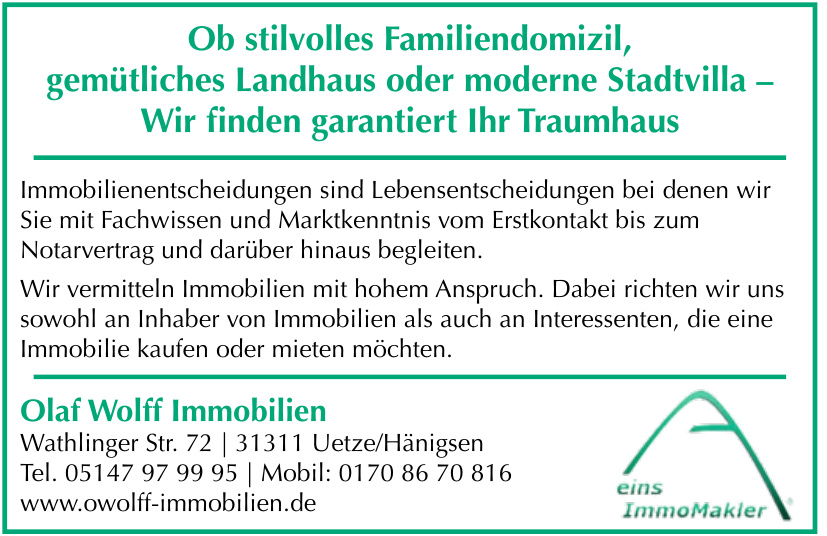 Olaf Wolff Immobilien