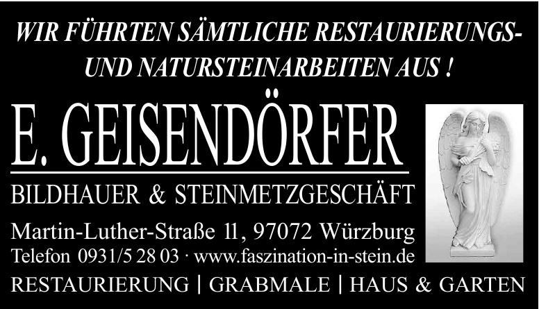 E. Geisendörfer Bildhauser & Steinmetzgeeschäft