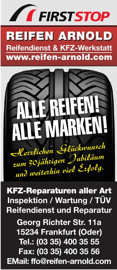 REIFEN ARNOLD Reifendienst & KFZ-Werkstatt