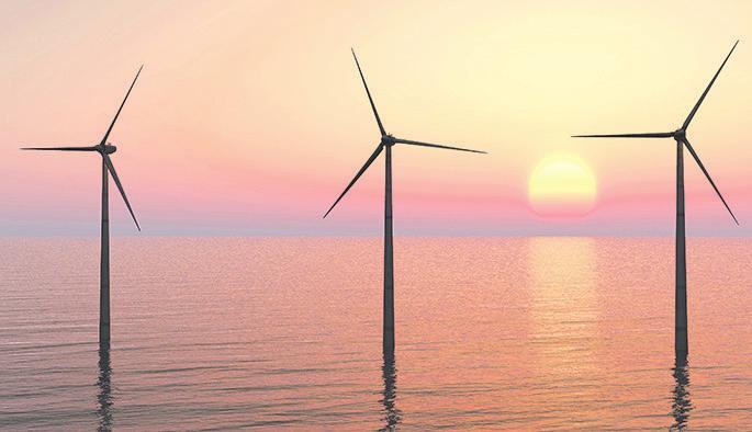 Offshore-Windenergie ist bestens geeignet für die Wasserstofferzeugung im industriellen Maßstab