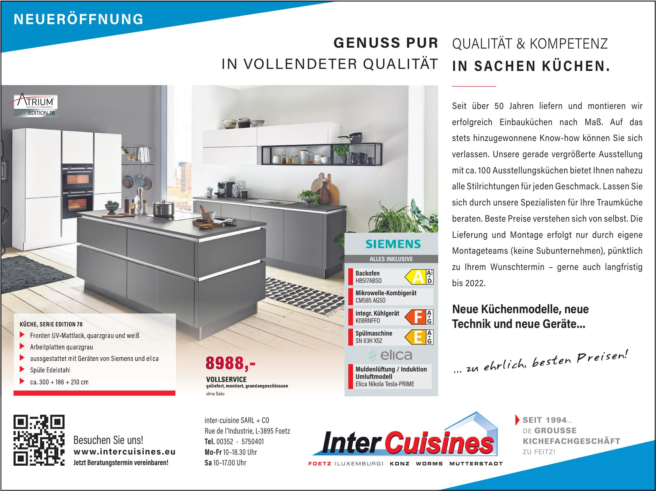 inter-cuisine SARL+CO
