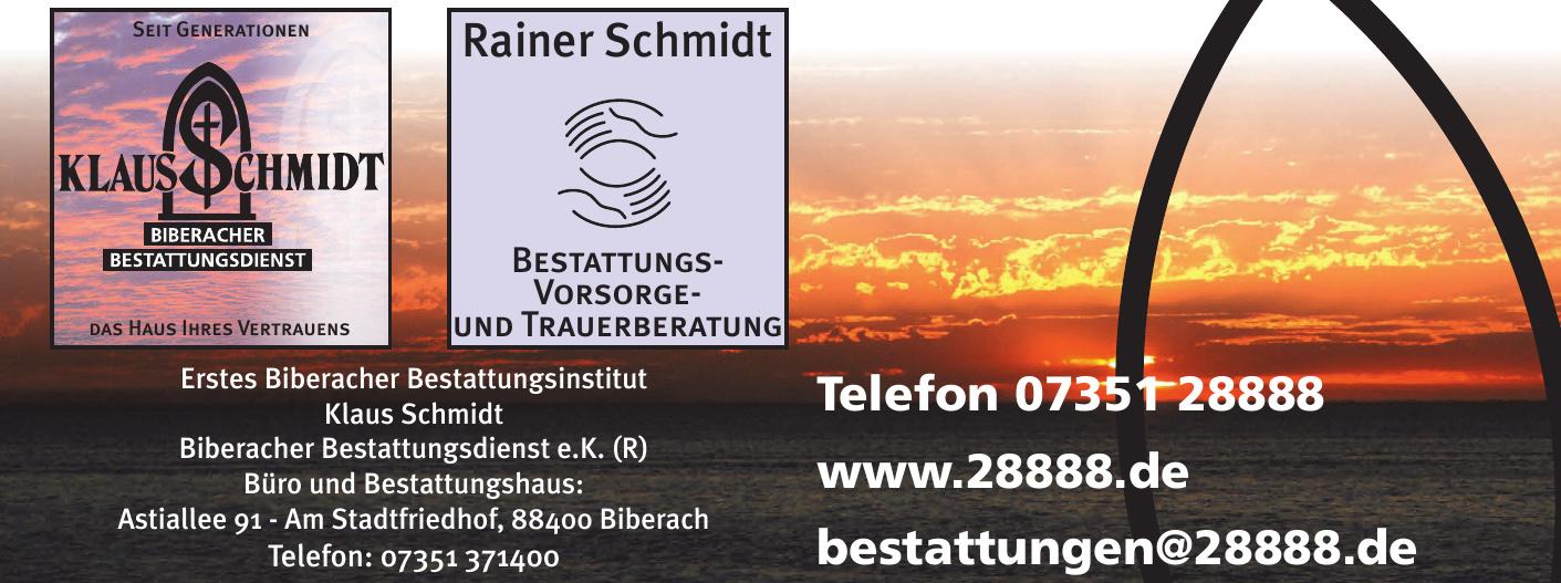 Erstes Biberacher Bestattungsinstitut Klaus Schmidt - Biberacher Bestattungsdienst e.K.