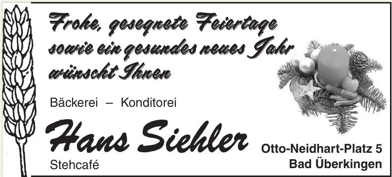Bäckerei - Konditorei Hans Siehler