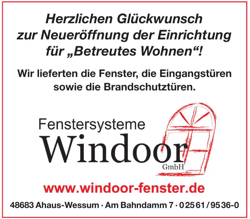 Fenstersysteme Windoor