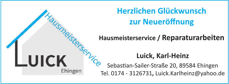 Hausmeisterservice Luick Ehingen