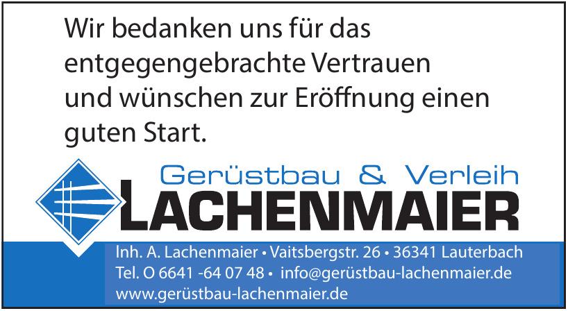 Lachenmaier Gerüstbau & Verleih