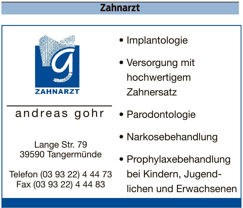 Zahnarzt Andreas Gohr