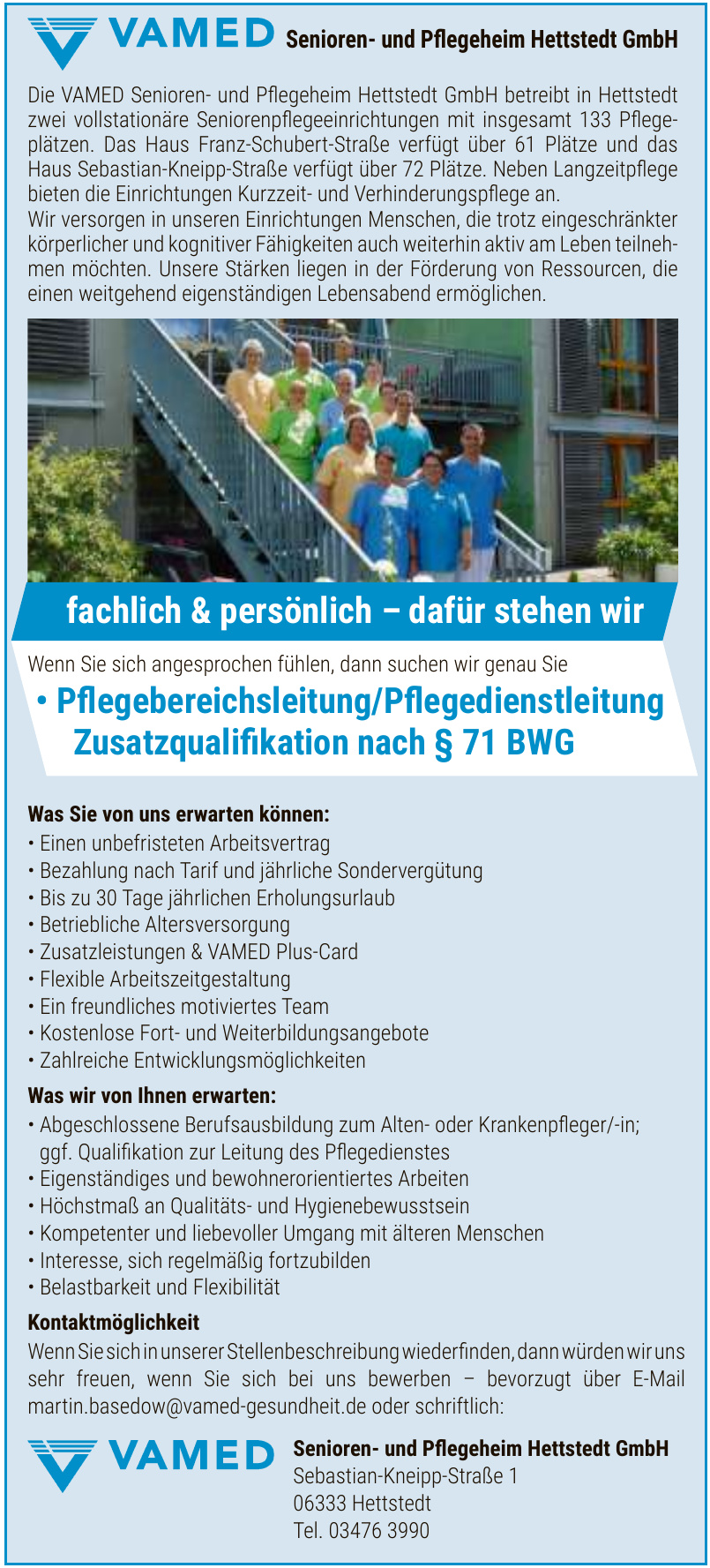 VAMED Senioren- und Pflegeheim Hettstedt GmbH