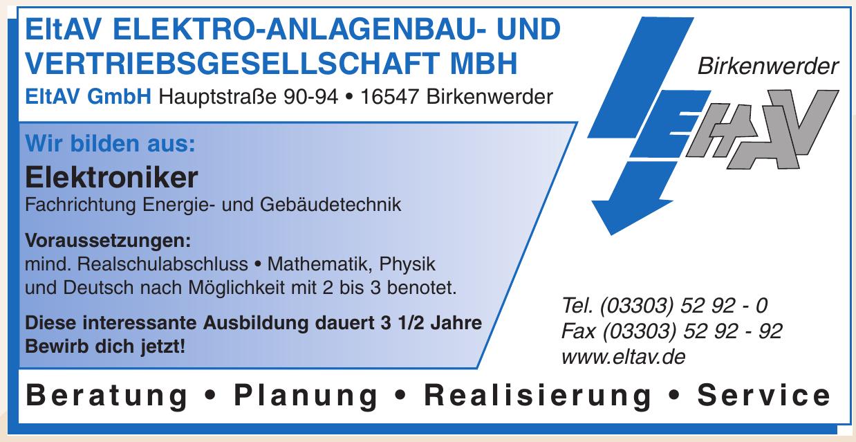EltAV Elektro-Anlagenbau- und Vertriebsgesellschaft MbH