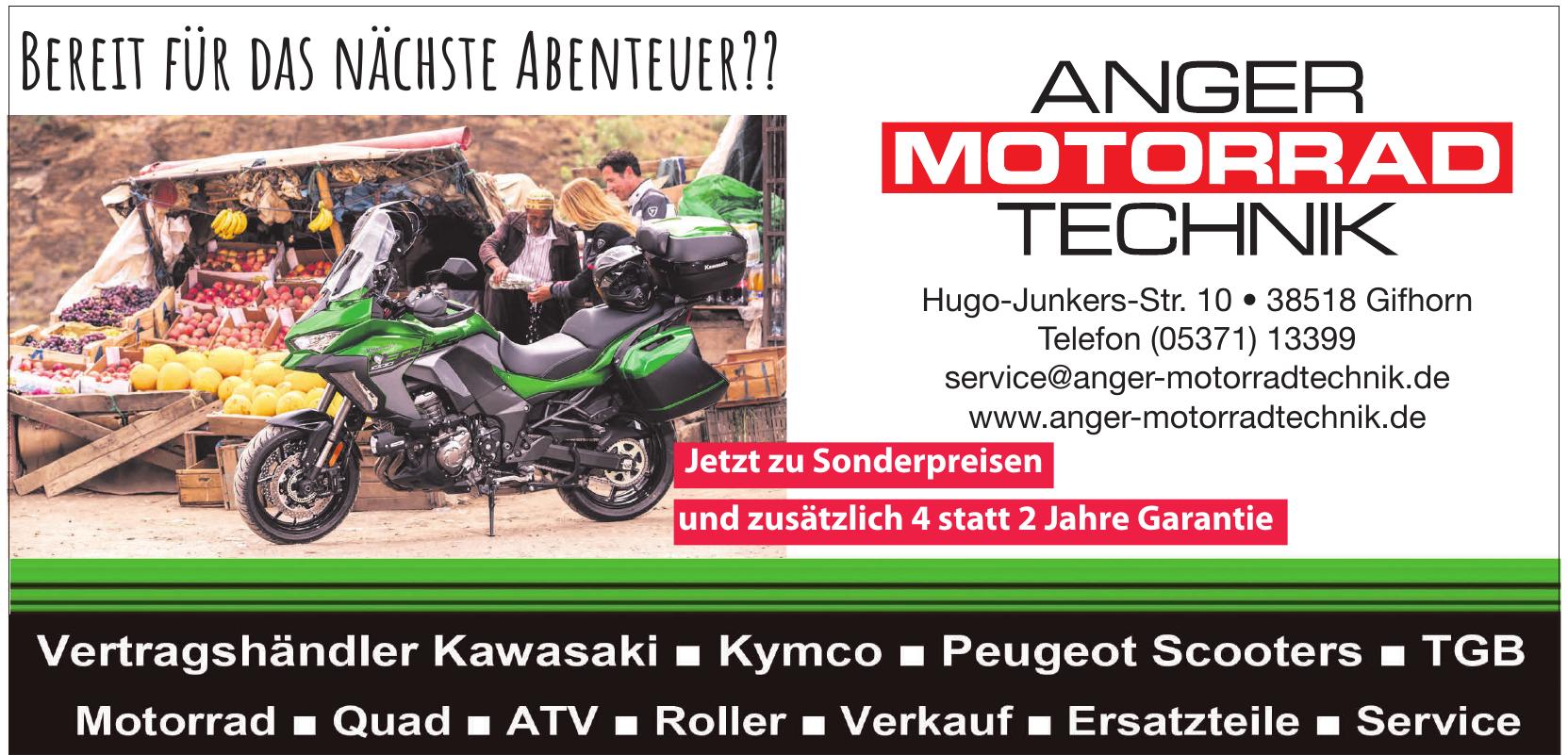Anger Motorrad Technik