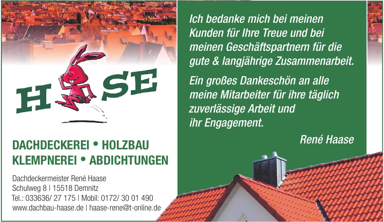 Dachdeckermeister René Haase