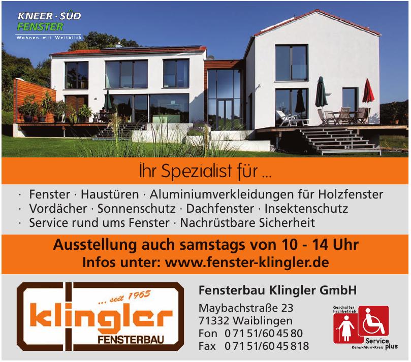 Fensterbau Klingler GmbH