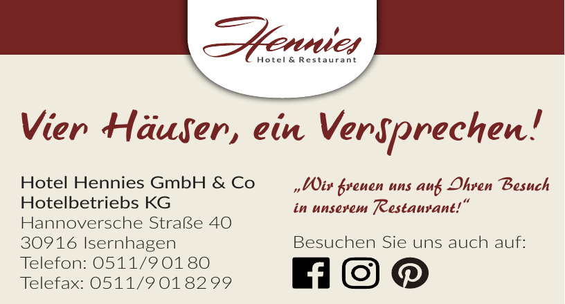 Hotel Hennies GmbH & Co - Hotelbetriebs KG