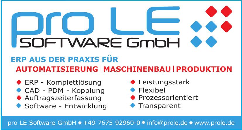 pro LE Software GmbH