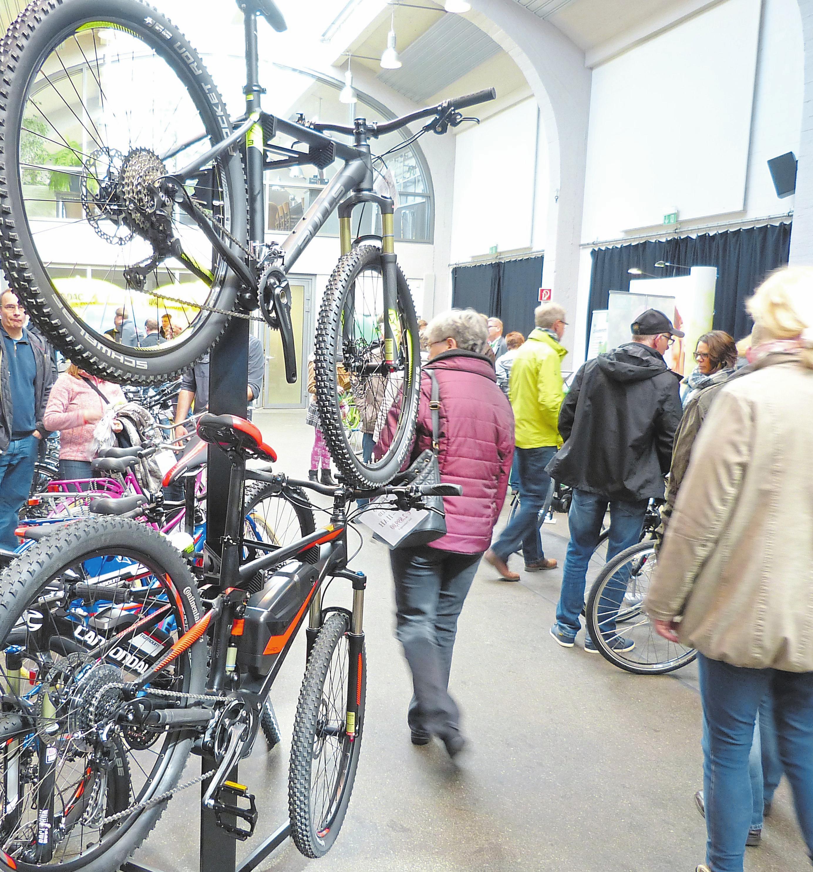 """Fahrräder und E-Bikes werden bei der neu konzipierten Messe """"Fitness und Freizeit"""" im Fokus stehen. Foto: Paul Meyer zu Brickwedde"""