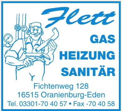 Flett Gas, Heizung, Sanitär