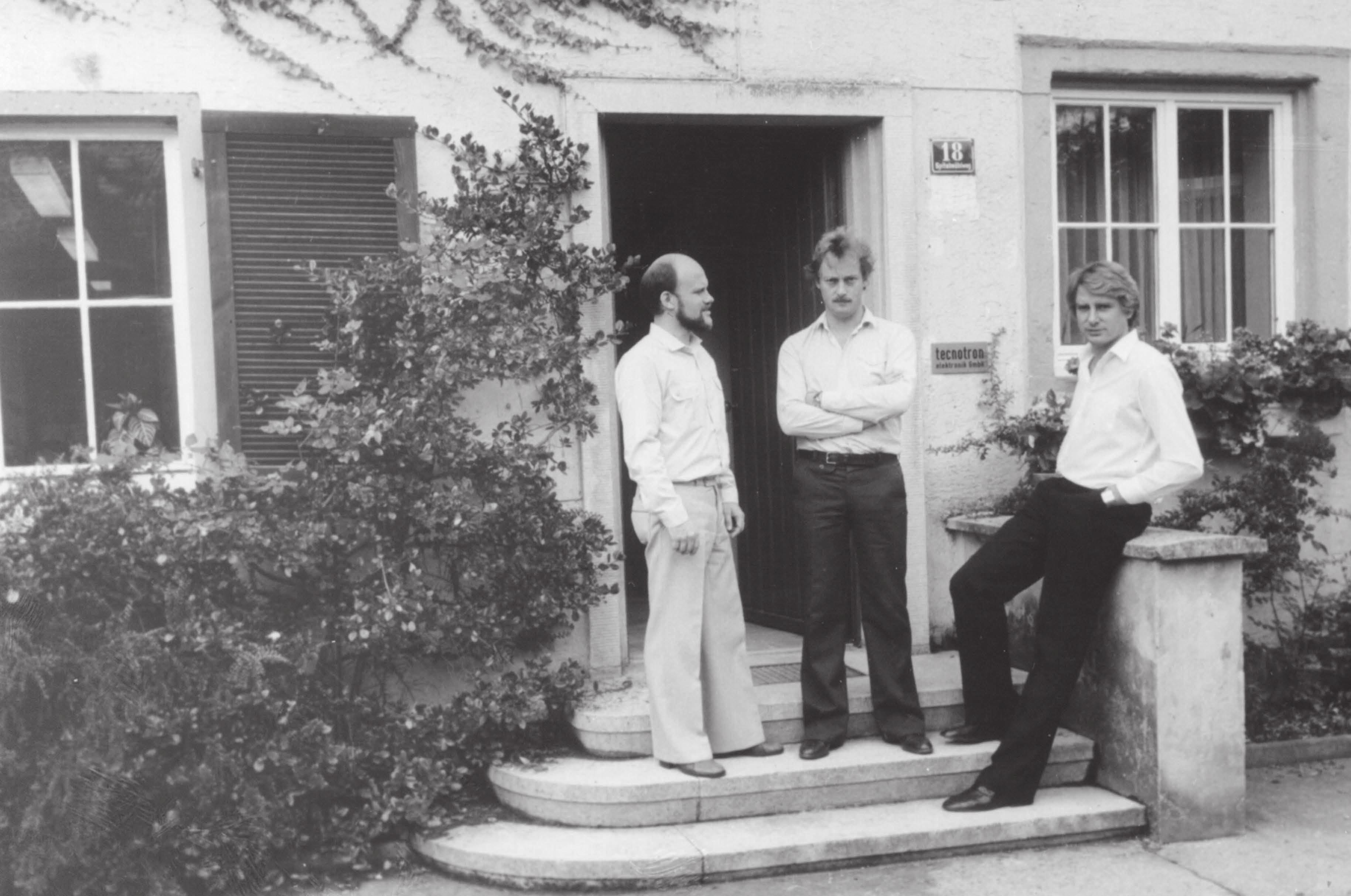 (v. l.) Hubert Weyerich, Erich Schemm und Karl-Heinz Strohmaier haben 1978 die Firma tecnotron gegründet und aufgebaut FOTO: TECNOTRON