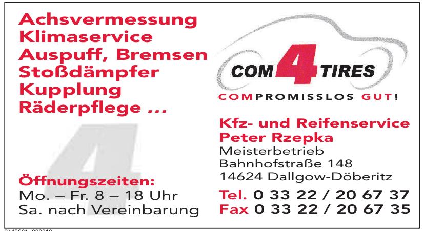 com4tires Kfz- und Reifenservice Peter Rzepka
