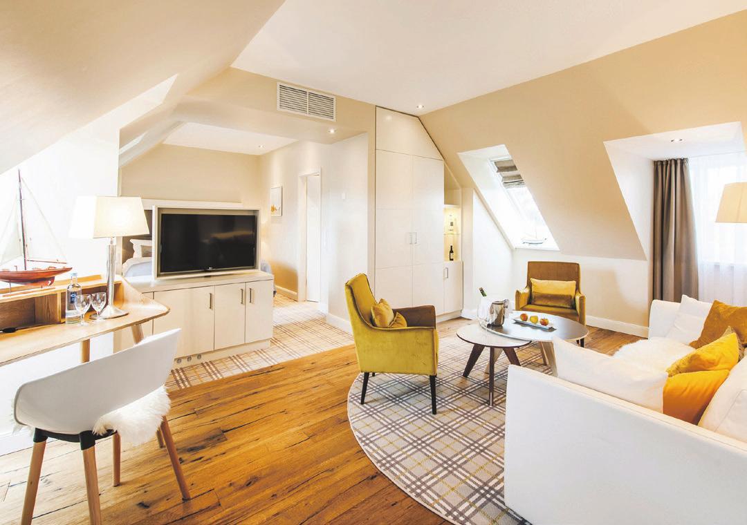Entspannendes Ambiente in der Juniorsuite. Foto: Hotel Birke