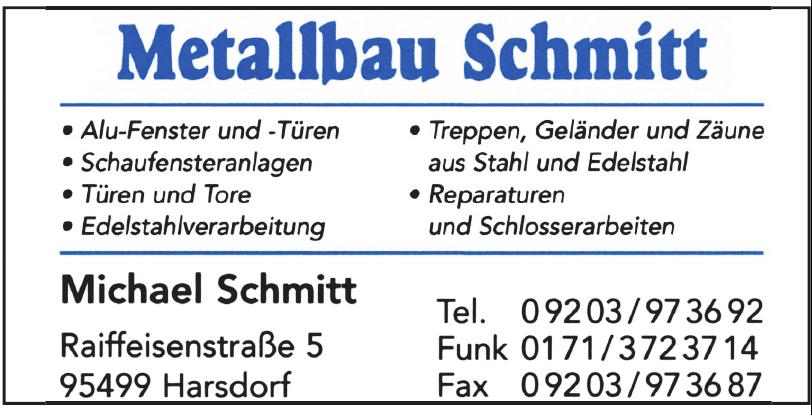 Metallbau Schmitt
