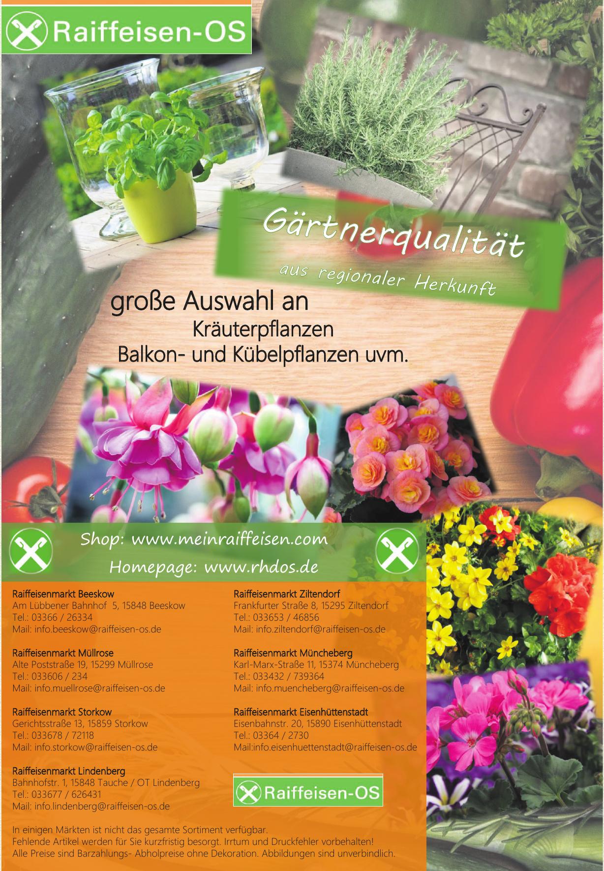 Raiffeisen- OS Raiffeisenmarkt Beeskow