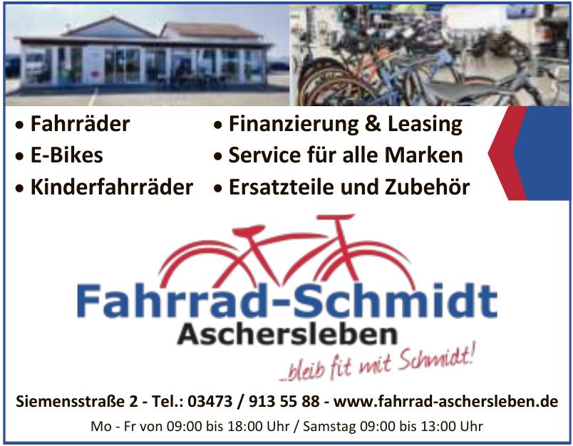 Fahrrad Schmidt Aschersleben