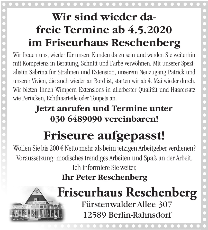 Friseurhaus Reschenberg