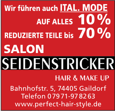 Salon Seidenstricker