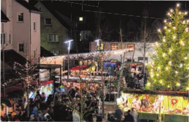 Morgen verwandelt sich der Dietenheimer Marktplatz wieder in eine heimelige Budenstadt mit stimmungsvollem Rahmenprogramm.