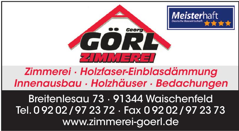 Zimmerermeister Georg Görl