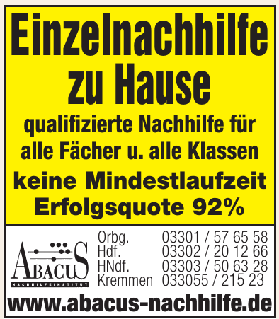 Abacus-Nachhilfeinstitut Franchise GmbH
