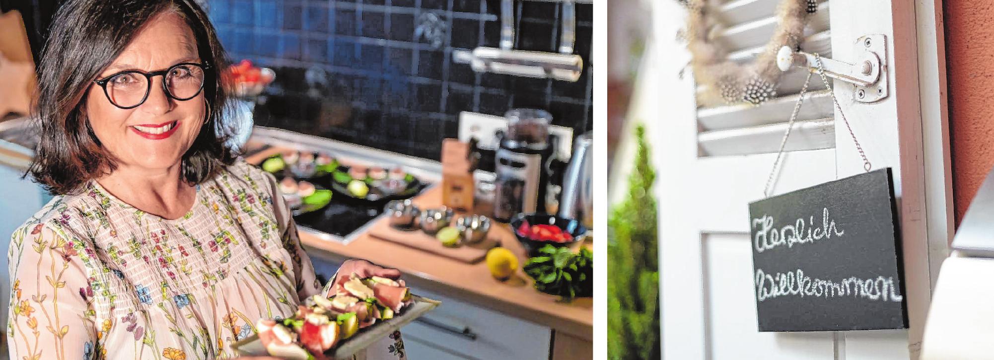 Herzlich willkommen im Hause Neu: Als Gruß aus der Küche servierte Cornelia Neu zum Aperitif Birnenspalten mit Schinken und Gorgonzola. Bilder: Thomas Neu