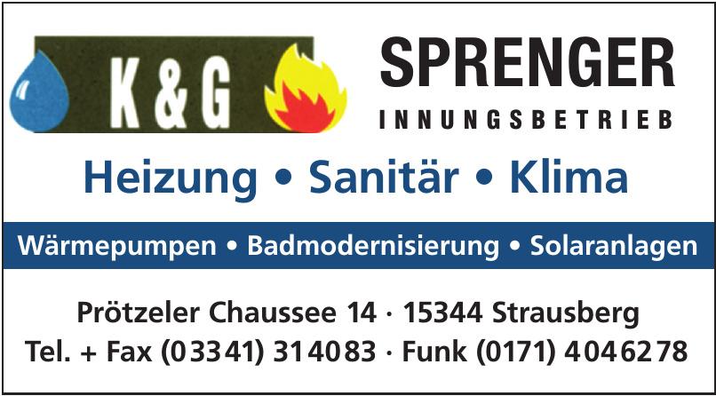 K & G Sprenger Innungsbetrieb